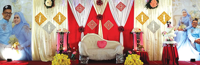 Malay Wedding Stage with backdrop